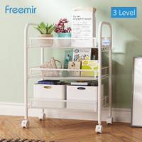 Freemir Kitchen Rolling Cart Rak Troli Kamar Tidur Dapur Serbaguna