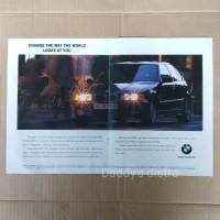 Poster Iklan mobil BMW 318i E36 asli majalah lama dokumentasi pajangan