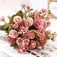 Buket Bunga Carnation Cantik Artificial Beautifull Flower Bouquet