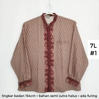 koko batik pria atasan muslim pria JUMBO 7L big size koko pria