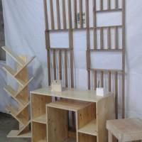rak buku rak kayu jati Belanda