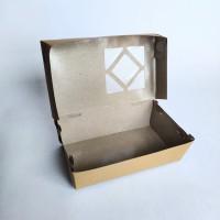 PAPER LUNCH BOX SIZE M/ KOTAK TAKE AWAY WINDOW SEGITIGA/ ECO PAPER