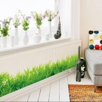 sticker dinding model rumput/ stiker dekorasi rumah gambar rumput