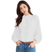 Baju Kemeja Tangan Panjang Wanita Gaya Korea Model Terbaru - HANANIA