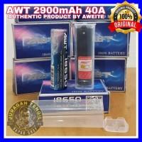 AUTHENTIC AWT BLUE 18650 2900MAH 40A BATTERY BATERAI VAPE 2900 mA