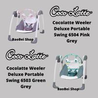 Bouncer Cocolatte Weeler Deluxe Portable Swing 6504 Pink Grey