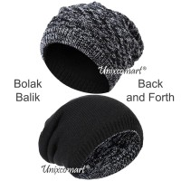 Beanie Back and Forth Topi Kupluk Dewasa Knitted Hat Bahan Rajut Tebal