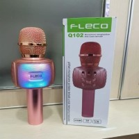 Mic Karaoke Bluetooth FLECO Q102 Microphone Wireless FLECO Q102 Smule