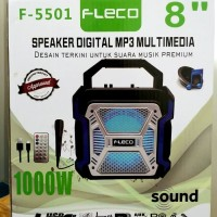 Speaker Multimedia Digital FLECO F-5501 Free Mic dan Bluetooth MP3 FD