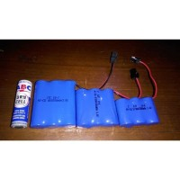 Baterai Rakit 4 Soket Hitam 4/5 AA Baterai RC 4 Soket Hitam 4/5 4.8V
