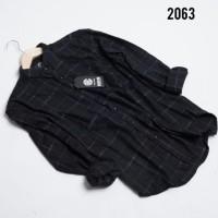 Kemeja Flanel Premium Murah 5 Motif Best Seller / Grosir Murah - Kode 2059, L