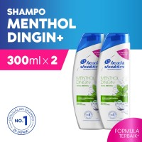 Head & Shoulders Shampoo Cool Menthol 300ml Paket isi 2