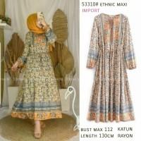 Ethnic Maxi Import Dress Jumbo Dress Terbaru Maxi Dress Ethnic