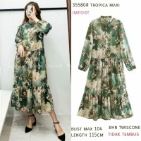 Tropic Maxi Import Dress Bangkok Gamis Terbaru Maxi Dress Lebaran
