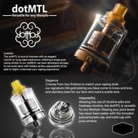 RTA Dot MTL 22mm By DOTMOD - Tank DOTMOD Dot MTL Atomizer Vape THSH