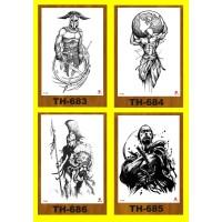 Tattoo/Tattoo temporary/Tattoo Temporer/Tatto 21x15cm TH