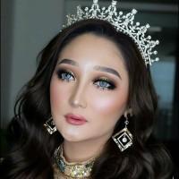 Mahkota Pesta Pengantin Modern- Aksesoris Rambut Wedding Wanita-MRW004
