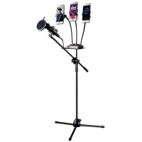 Pro Stand Microphone & Smartphone Holder 5 in 1/Jumbo Stand Mic