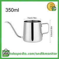 OneTwoCups Teko Pitcher Kopi Teh Teapot Drip Kettle Cup Stainles 350ml