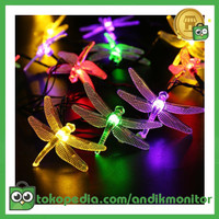 YUSHILED Lampu Hias Dekorasi Dragonfly 20 LED - M088 - Multi-Color