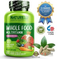 NATURELO - #1 Ranked - Whole Food Multivitamin for Women 50+ - 120 cap