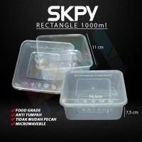 SKPY Food Container Rectangel Box Plastik 1000ml (25pcs)