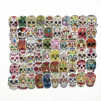 60 Pcs Stiker Skull Tengkorak Etnic Rimowa Sticker Koper