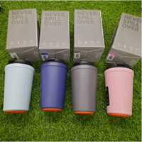 Suction Cup / Tumbler anti jatuh / Anti Spill coffee cup - Blue
