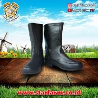 Sepatu Kulit Ap Boots Hitam - Star Farm