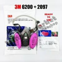 ORIGINAL 3M 6200 + 2097 Half Facepiece Respirator Half Gas Mask Medium