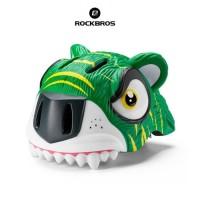ROCKBROS ER-TK5 Bike Child Helmet Cartoon + Light - Helm Sepeda GREEN
