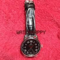 Jam Tangan Pria ZECA ORIGINAL 100% 302M Black Leather Dial Black 302 M