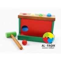 Mainan Edukasi Anak Luncuran Bola Pukul