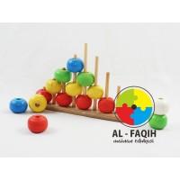 Mainan Edukasi Anak Kayu Menara Bulat