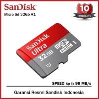 SanDisk Ultra A1 MicroSD Card 32gb 98MBp/s Class 10 - Garansi / Resmi