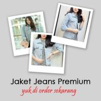 Jaket Levis Cewek Oversize Biru Pudar /Jaket Jeans Cewek Oversize Biru
