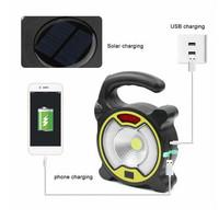 Lampu Senter COB darurat emergency Recharge USB/ Solar 18650 x 2 329A