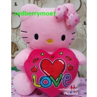 boneka hello kitty love medium hellokitty hati