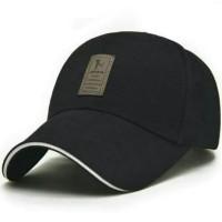 Topi pria, Topi Baseball golf logo ediko sport - BLACK