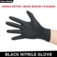 Sarung Tangan Nirtile | Detailing Glove Tahan Kimia Karet Hitam Black