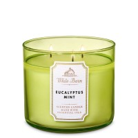 BBW Bath and Body Works EUCALYPTUS MINT 3 Wick Scented Candle 411 gr