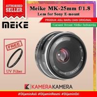 Lens Meike 25mm F1.8 Lens for Fuji Sony E- Mirrorless + FREE Filter 49