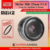 Lens Meike 25mm F1.8 Lens for Fuji X-Mount Mirrorless + FREE Filter 49