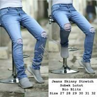 Celana Jeans Pria Ripped/Sobek Slimfit Stretch Bio Size 27sd32 (Ecer)