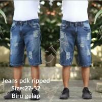 Celana Jeans Pendek Pria Ripped/Sobek Premium - Size 27sd32 (Ecer)