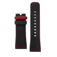 Tali / strap jam tangan SEVENFRIDAY P2B/08 bahan silikon warna hitam