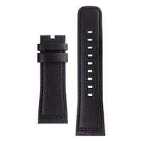 Tali / strap jam tangan SEVENFRIDAY Q3/01 bahan kulit warna hitam