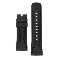Tali / strap jam tangan SEVENFRIDAY bahan silikon warna hitam