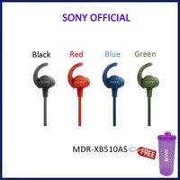 Sony Sports ExtraBass Splashproof Headphone MDR-XB510AS - Black