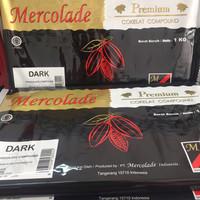 MERCOLADE COKLAT BATANG - BLOK WARNA RASA - CHOCOLATE COMPOUND 1KG